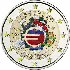 Coin / Munt Slowakije - Slovakia 2012 Ten Years of Euro Collor