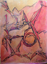 CLAIRE NAHON-ATELIER-ABSTRAIT-ABSTRACTION-ANNEE 1960-20/24-