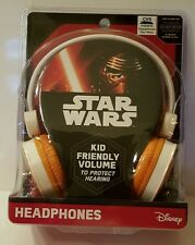 Star Wars Disney The Force Awakens Kid Friendly Volume Headphones