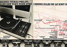 PUBLICITE  1976   PHILIPS    chaines hi-fi stéréo  ( 2 pages)