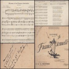PARTITION de G. BERNARD HYMNE A LA FRANCE ETERNELLE