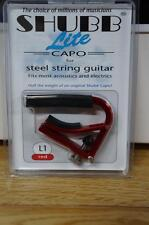 Shubb L1 Lite Capo for Steel String Guitar - Red