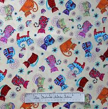 Pet Fabric - Cool Cats Debi Hron Allover Cream - Henry Glass YARD