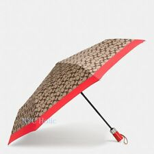 New Coach F63364 Large Umbrella In Signature Vermillion NWT $85 MSRP