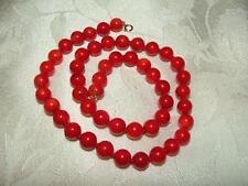 Beautiful VINTAGE 14 kt Genuine RED CORAL Beaded NECKLACE 39.9 gr