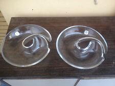 Coppia di Vetri Alfredo Barbini Murano Design Anni 70 vetro sonoro