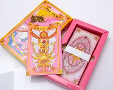 Japan Anime Card Captor Sakura Cosplay 55PCS The Clow Cards in Gift Box