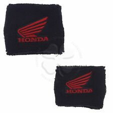 Large & Small Black Honda Wing Brake & Clutch Reservoir Sock Cover CBR