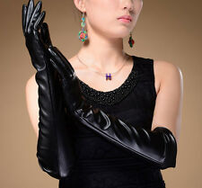 Womens PVC Style Pair Elbow length Gloves Mistress Gothic BDSM Clothing