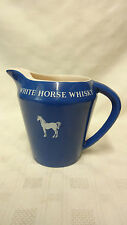 Vintage Ceramic Collectable White Horse Whisky Water Whisky Jug - Wade