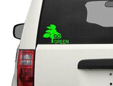 """7"""" GO GREEN STICKER VINYL DECAL CAR TRUCK WINDOW environment"""