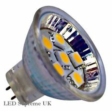 MR11 6 SMD LED 12V (10-30V DC) 100LM 1.2W White Bulb with Cover (~15W)
