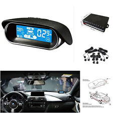 Dual-core Double LCD Display 8 Black Parking Sensor Car Reverse Radar Alarm Kit
