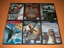 Lot of 6 PS2 gms Complete GREAT! Myst 3 Exile, Metal Gear Solid 2, Ace Combat