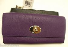 NWT Coach 52345 Slim Envelope Wallet With Pop-Up Pouch Embossed Textured Leather