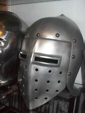 knights helmet from an unknown production larp