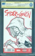 Spider Gwen 1 Deadpool CBCS SS Patrick Canter Original art Sketch up CGC 9.8