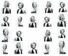 Sexy Marilyn Monroe Water Transfer Decal Sticker Nail Art Classic Celeb Design
