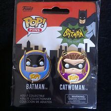 Funko Pop Pins! 2 Pack Batman Series 1966 BATMAN and CATWOMAN New Sealed Package