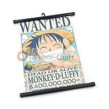 Cosplay Japan Anime One Piece Luffy Wanted Wall Poster Scroll Home Decor A4 Size