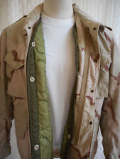 ISRATEX COAT COLD WEATHER FIELD CLASS 4 WITH LINER  L-R DESERT CAMO MADE IN USA