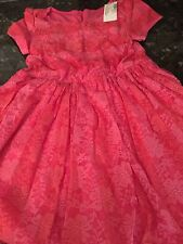 THE CHILDRENS PLACE Girl's PINK RED Lace Dress Sz Small 5/6 NWT Sealed New!