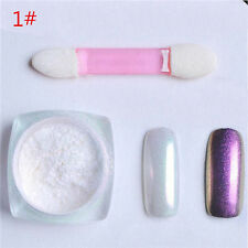 Magic Shinning Glitter Mirror Chrome Effect Dust Shimmer Nail Art Powder #1 W775