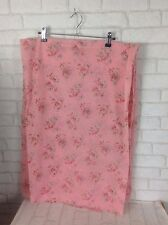Vintage 1970 Pink Flower Pattern Sniff Chiffon Feel Fabric Material