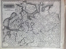 RUSSIA in Europe North-part carta geografica 1817 . Sidney Hall  - A. Arrowsmith