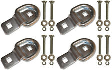 "4 - 3/8"" Stainless Steel D Ring Rope Chain Tie Down Trailer Kit with SS Bolts"