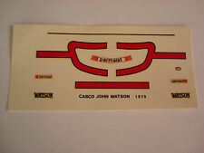 DECALS KIT 1/12 JOHAN WATSON F1 BRABHAM ALFA DECAL
