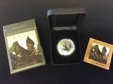 2013 tuvalu $1 dragons of legend, the european green dragon, proof silver coin.