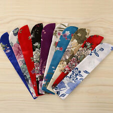 Floral Chinese Foldable Hand Pocket Fan Holder Protector Pouch Bag Case Random