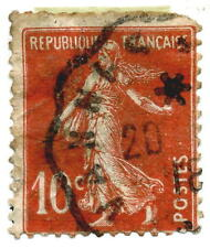 1907 10 Centimes Semeuse Solid background Stamp From France Yt:FR 138b Type IA
