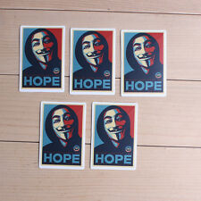 5pcs  Removable V for Vendetta Waterpoof DIY Wall Sticker Home Art Guitar