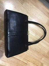 Mappin And Webb Black Leather Handbag