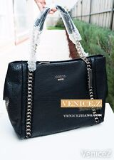 BNWT GUESS JENSYN Large Chain Handbag Shoulder Bag Satchel Black