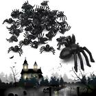 Lots 100PCS Halloween Plastic Black Spider Joking Toys Decoration Realistic Prop