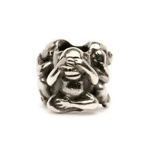 Trollbeads Original Silber Bead Drei Affen TAGBE-20092 Three Monkeys Charm