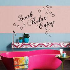Decoración Remoje Relax Disfrute Pegatinas Vinilo removible Arte Baño Muro