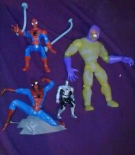 Lot 4 Different Spider-Man Toy Action Figures spider man swarm diecast vintage!!