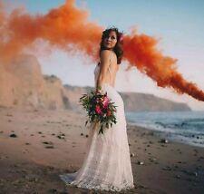 BACKLESS IVORY LACE MAXI FORMAL WEDDING LULU DRESS SIZES S M