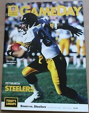 1986 Chicago Bears Pittsburgh Steelers Program Louis Lipps Cover Payton FN+