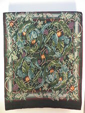 RARE vintage William Morris & Co Tapestry Wall Hanging Grapes & Peaches 1980's