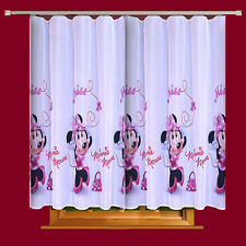 Disney  Voile Net Curtain -MINNIE MOUSE IN PINK - 75cm width x 150cm drop