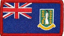 British Virgin Islands Flag Iron-On Patch Military Emblem Red  Border