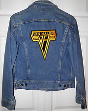 Van Halen Urban Applique Lee Denim Jean Jacket 38R Made in USA New Without Tags