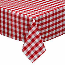 "Classic Red and White 1"" Gingham Check Cotton Tablecloth 60"" x 84"""