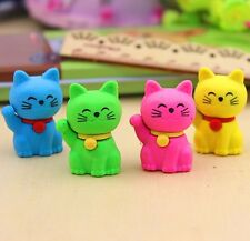 1PC Adorable Cartoon Cat Eraser Rubber Pencil Stationery Children Present Study