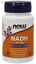 NOW Foods NADH 10 mg 60 VegiCaps- Best Price & Free Ship